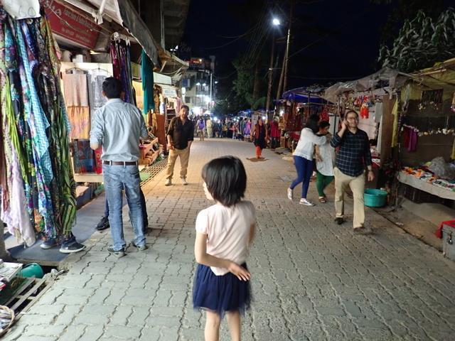 インド ダラムサラ 夜
