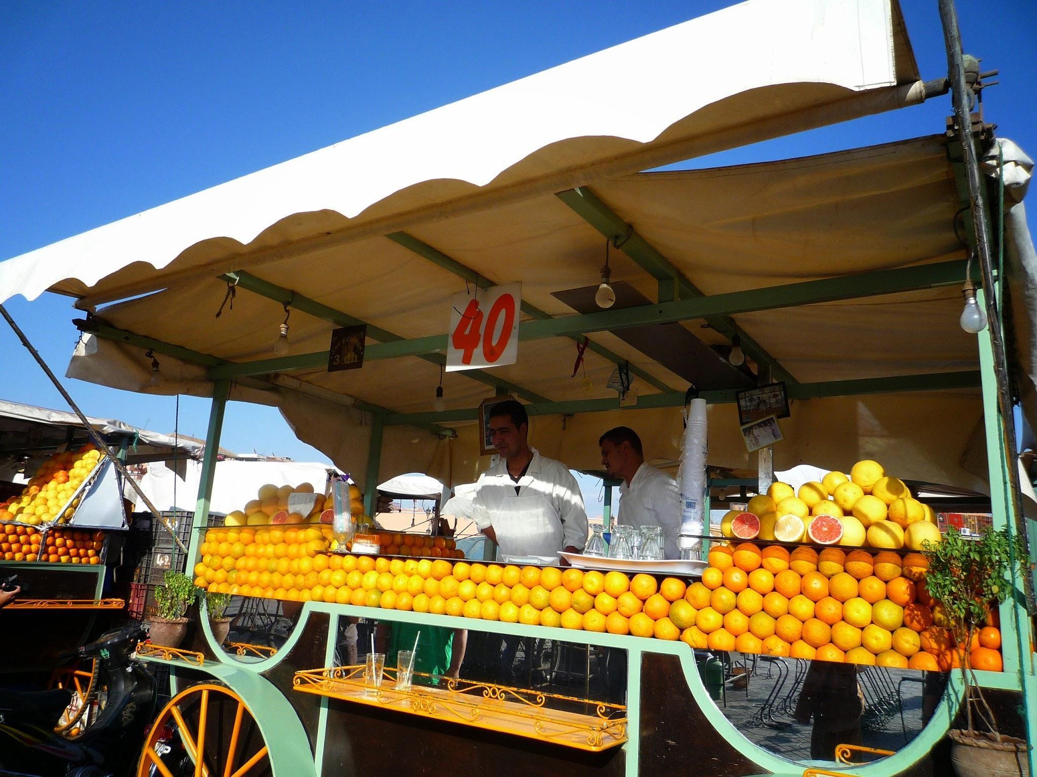 モロッコ マラケシュ フルーツジュース
