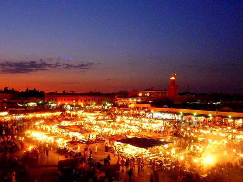 モロッコ マラケシュ 夕陽
